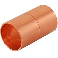 COPPER PIPE FITTING Złącza do rur i adaptery 1-1/2 Coupling No Stop C x C Sweat Ends Firma i Przemysł