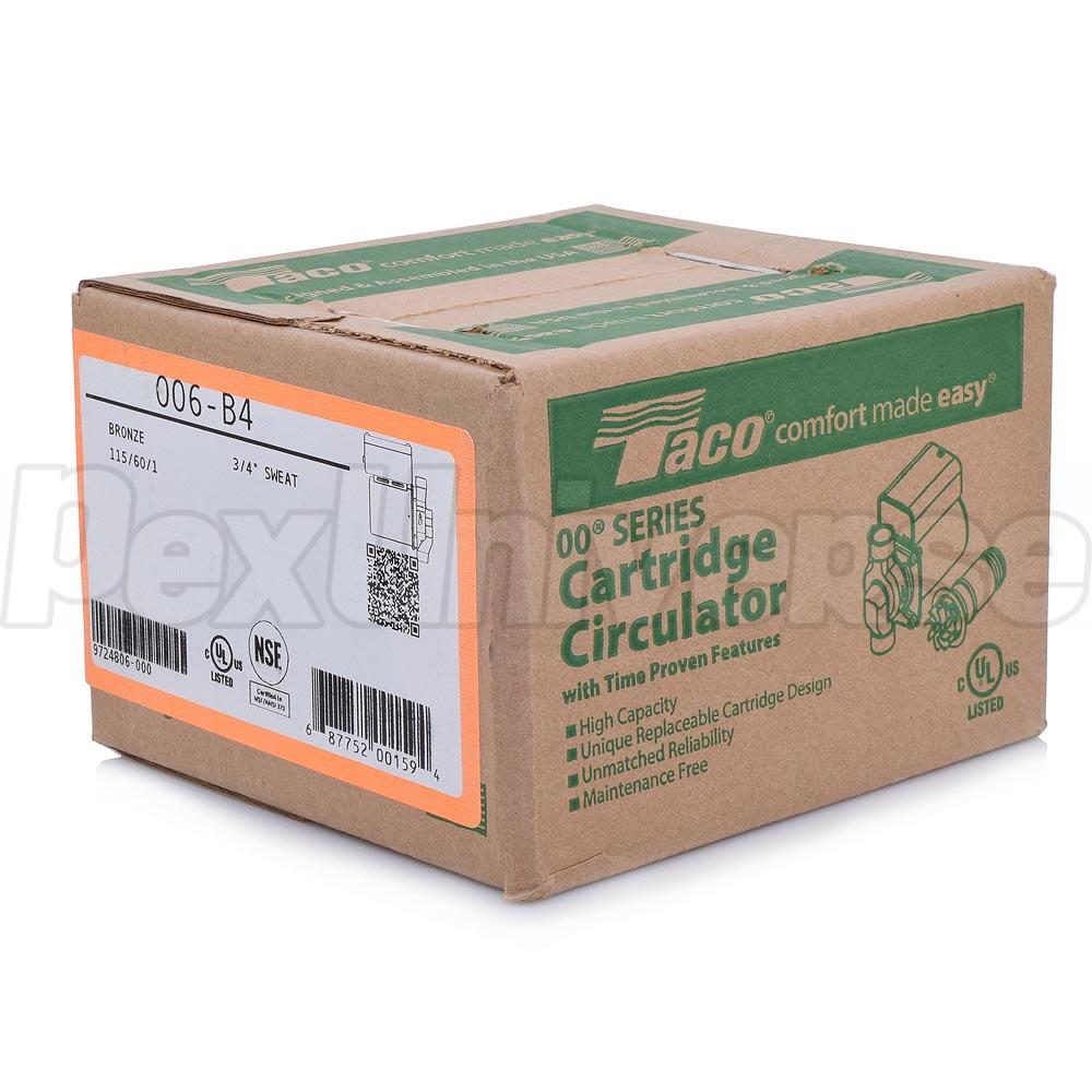 Taco 006 B4 Bronze Circulator Pump 3 4 Sweat 115v Pexuniverse Wiring Diagram 1 40 Hp Brand