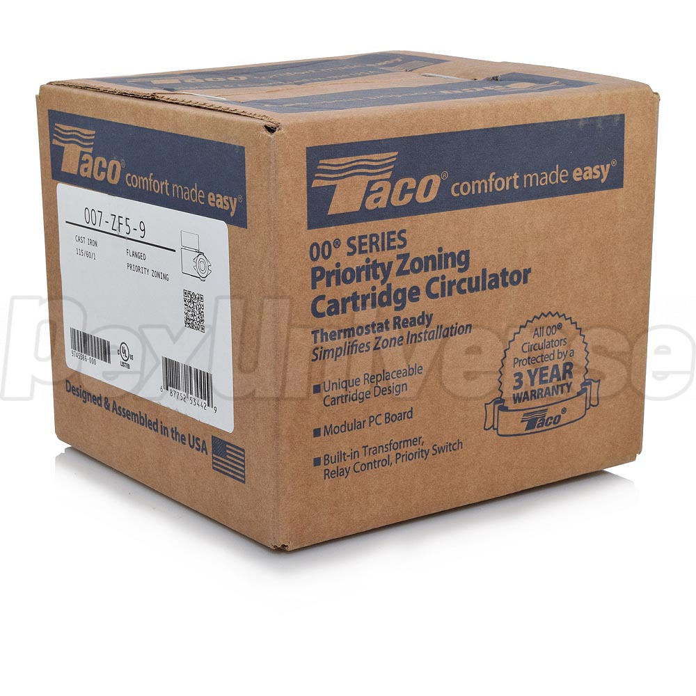 Taco 007 Zf5 9 Cast Iron Priority Zoning Circulator 115v Pexuniverse 00 Wiring Pump 1 25 Hp Brand