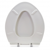 Magnificent Bemis 1000Cpt White Paramount Plastic Elongated Round Toilet Seat W St Steel Hinges Extra Heavy Duty Customarchery Wood Chair Design Ideas Customarcherynet