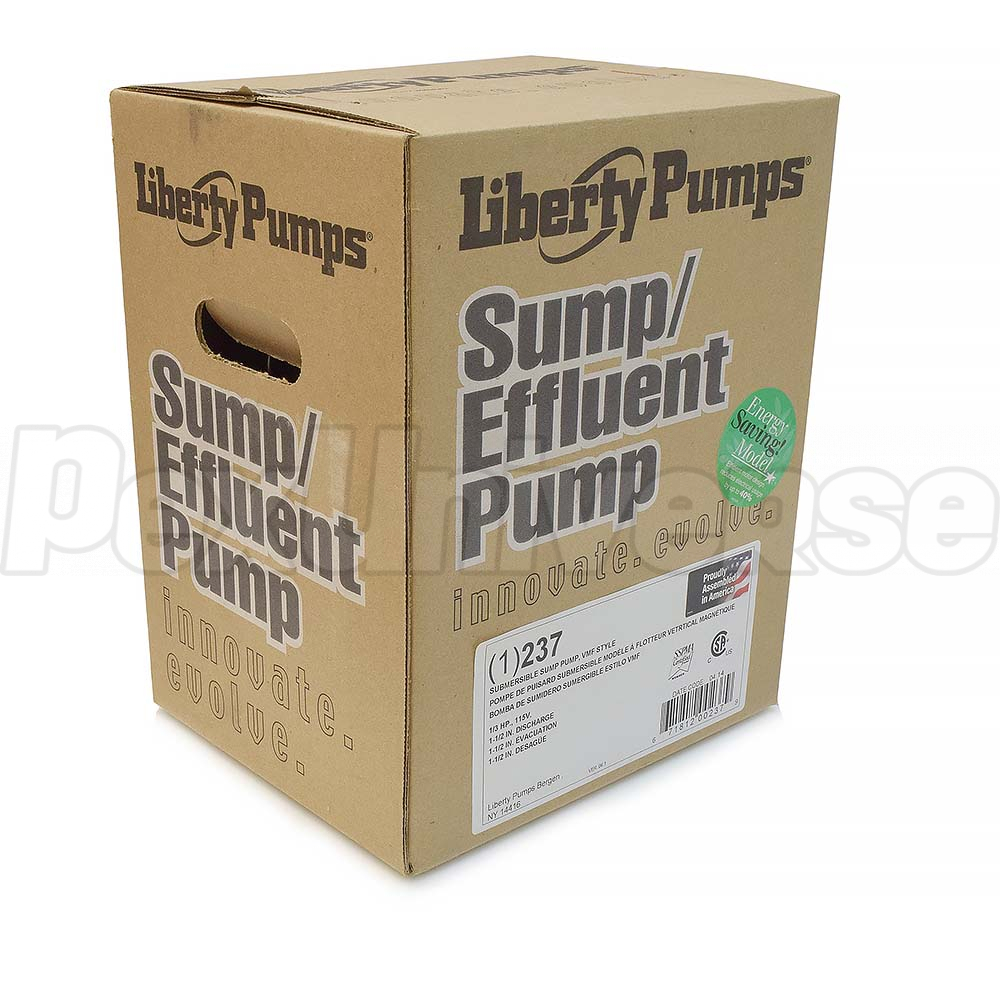 Liberty Pumps 237 Automatic Sump Pump Pexuniverse Wiring W Vertical Float Switch 10 Cord 1 3 Hp 115v