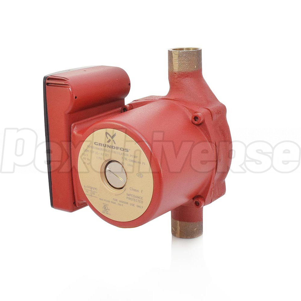 "UP15-42B7 Bronze Circulator Pump, 3/4"" Sweat, 1/25 HP, 115V. Brand: Grundfos"