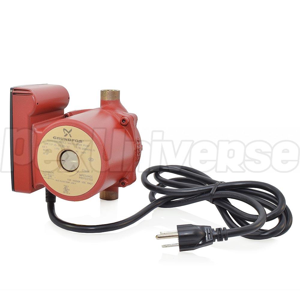 Grundfos Up15 18b5 Lc Circulator Pump Bronze 59896211 Pexuniverse Wiring Zone Valve W Line Cord 1 2 Sweat 25 Hp 115v
