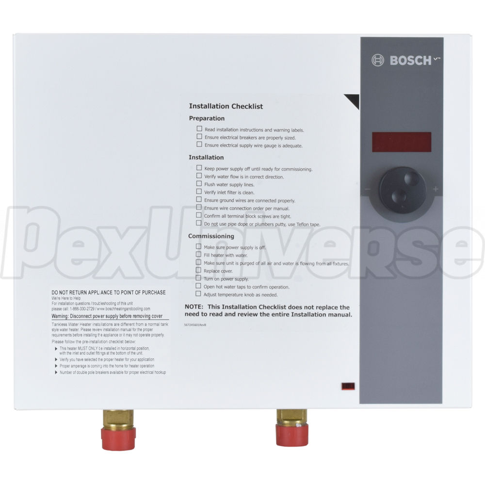 Bosch WH17, Whole-House Electric Tankless Water Heater, 17.3 kW,  208/220/240V