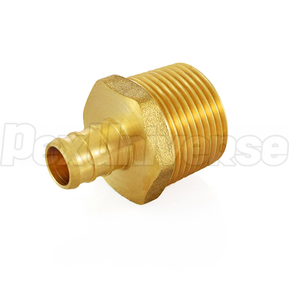"Brass Crimp Fitting 5//8/"" PEX x 3//4/"" Female NPT Threaded Adapter"
