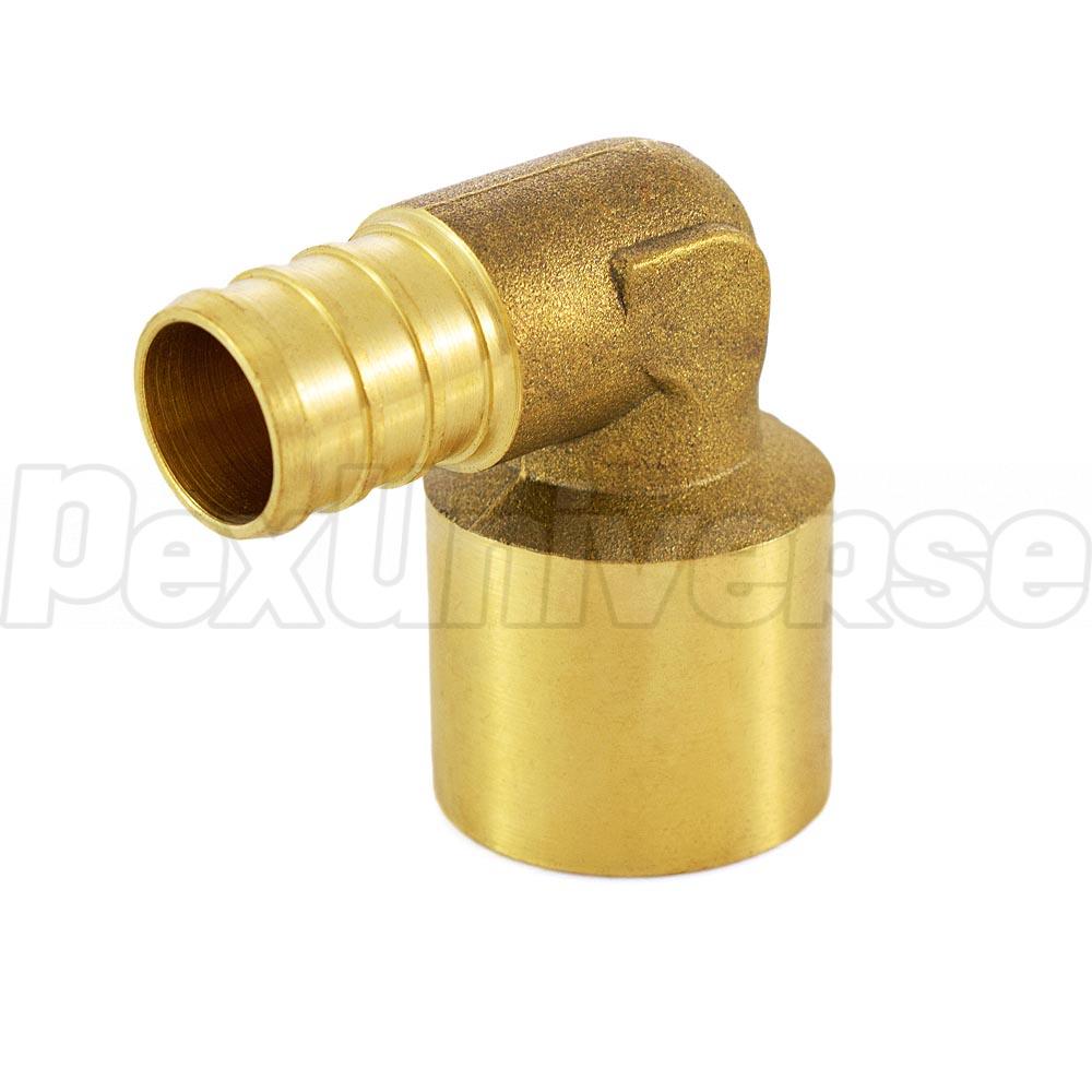 Quot pex copper pipe elbow crimp brass fitting