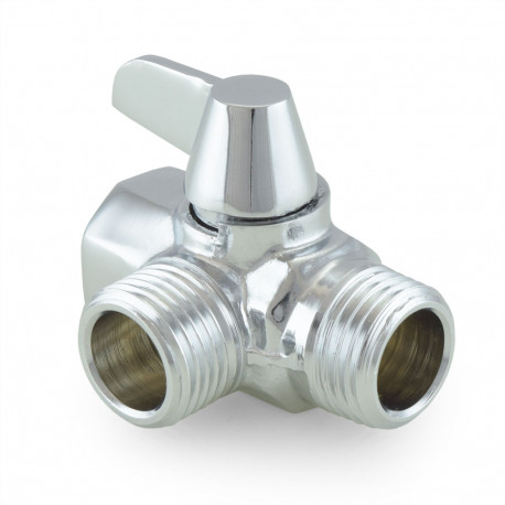 Diverter Valve for Shower Head to Hand-Held Shower, Chrome - PexUniverse