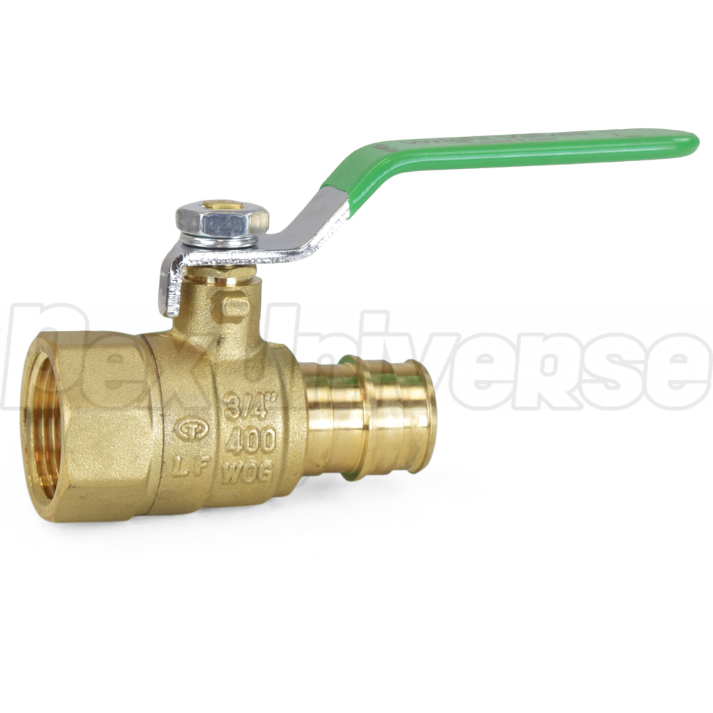 """3//4/"""" ProPEX F1960 Expansion x 3//4/"""" FNPT Lead-Free Brass Ball Valve for PEX-A"""