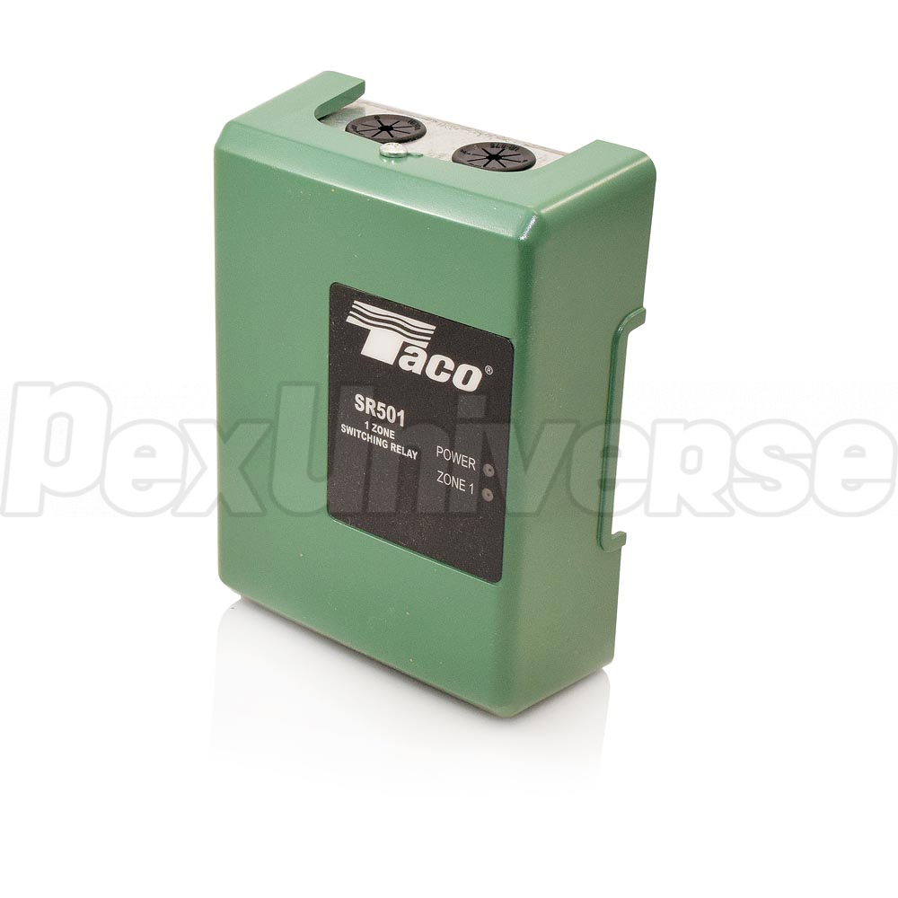 Taco Sr501 4 1 Zone Switching Relay Pexuniverse Boiler Thermostat Wiring Diagram Related Products Pumps Honeywell Thermostats