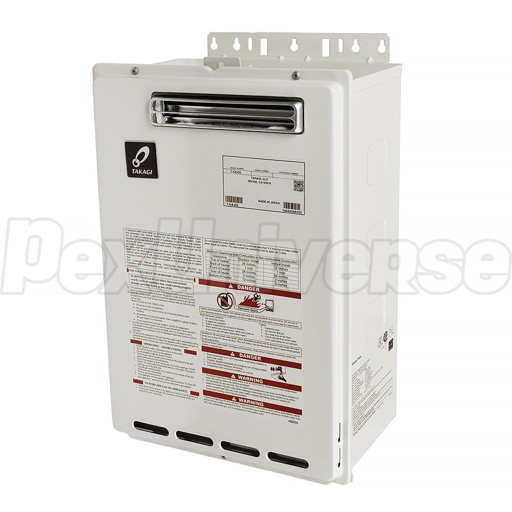 Takagi T-K4-OS Outdoor Tankless Water Heater, Natural Gas, 190KBTU, incl   TK-RE02