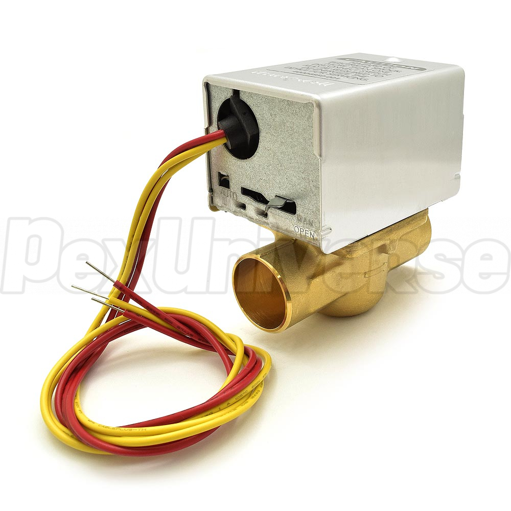 Honeywell V8043e1020 Zone Valve Pexuniverse Hydronic Wiring Diagram For 1 Sweat W End Switch 18 Leads Brand
